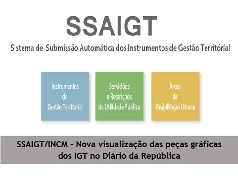 Novo formato de visualização das peças gráficas dos Instrumentos de Gestão Territorial no Diário da República